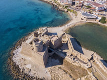 Aerial view of the Aragonese castle of Le Castella, Le Castella, Calabria, Italy Stock Images