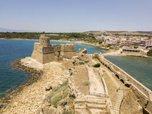 Aerial view of the Aragonese castle of Le Castella, Le Castella, Calabria, Italy Stock Photography