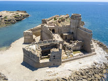 Aerial view of the Aragonese castle of Le Castella, Le Castella, Calabria, Italy Stock Photo