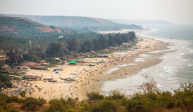 Aerial view of Arambol beach in Goa state, Royalty Free Stock Photo