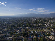 Aerial view of Arcadia. With mountain view Stock Photos