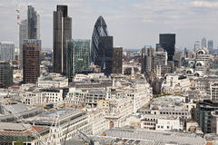 Aerial view with architecture of london uk europe Stock Images