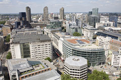 Aerial view with architecture of london uk europe Royalty Free Stock Photo