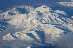 Aerial View of Arctic. Sunny day, snow Royalty Free Stock Photos
