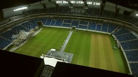 Aerial view of Arena das Dunas soccer stadium in city of Natal, the capital of Rio Grande. Dune arena | night-time | arena das Dunas | natal stock footage