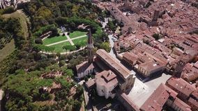 Aerial view of Arezzo Tuscany Italy. Drone video footage - Aerial view of Arezzo Tuscany Italy stock video footage