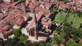 Aerial view of Arezzo Tuscany Italy. Drone video footage - Aerial view of Arezzo Tuscany Italy stock video