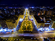 Aerial view of Aristotelous Square and the city of Thessaloniki Royalty Free Stock Photography