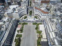 Aerial view of Aristotelous Square in Thessaloniki. Greece. Aerial view of Aristotelous Square in Thessaloniki, Greece Stock Images