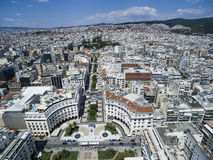 Aerial view of Aristotelous Square in Thessaloniki. Greece Stock Photography
