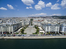 Aerial view of Aristotelous Square in Thessaloniki. Greece Royalty Free Stock Images