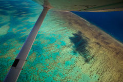 Aerial View of Arlington Reef Australia Royalty Free Stock Image