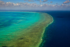 Aerial View of Arlington Reef in Australia Stock Photography