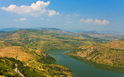 Aerial view around Bergama Stock Photography