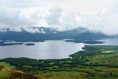 Aerial view around Loch Lomond Royalty Free Stock Image