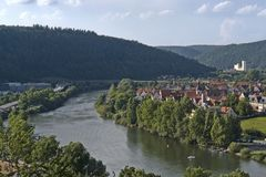 Aerial view around Wertheim Royalty Free Stock Images