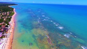 Aerial view of Arraial d`Ajuda beach, Porto Seguro, Bahia, Brazil royalty free stock images