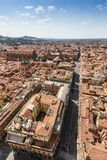 Aerial view from Asinelli tower in Bologna, Italy Stock Photography