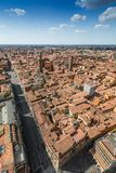 Aerial view from Asinelli tower in Bologna, Italy Stock Photos