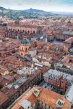 Aerial view from Asinelli tower in Bologna, Italy Royalty Free Stock Photography