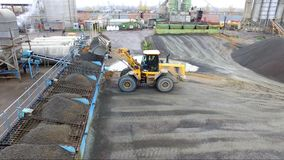 Asphalt concrete plant aerial photography stock video footage