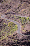Aerial View of an Asphalt Road Royalty Free Stock Images