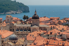 Aerial view of the Assumption Cathedral of Dubrovnik Royalty Free Stock Image