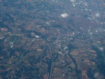 Aerial view of Asti. Aerial view of the city of Asti, Italy Stock Photos