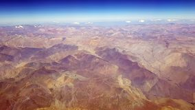 Aerial view of the Atacama desert and the Andean volcanoes royalty free stock photo