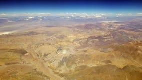Aerial view of the Atacama desert and the Andean mountains, Chile. Aerial view of the Atacama desert and the Andean volcanoes from the airplane, Chile stock photos