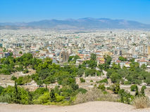 Aerial view of Athens city the capital of  Greece. And one of the world`s oldest cities Royalty Free Stock Image