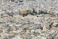 Aerial view of Athens, Greece. Athens is the capital of Greece a Royalty Free Stock Photography