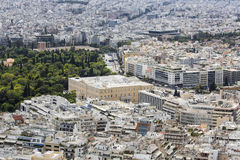 Aerial view of Athens, Greece. Athens is the capital of Greece a Stock Photos