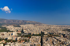 Aerial view of Athens, Greece stock images