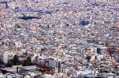 Aerial view of Athens  from Lycabettus hill, Historic center, Attica, Greece stock photos