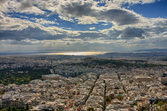 Aerial view of Athens from mount Lycabettus Royalty Free Stock Photos