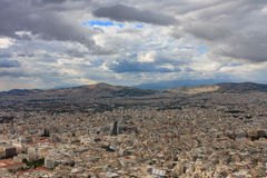 Aerial view of Athens from mount Lycabettus Stock Photos