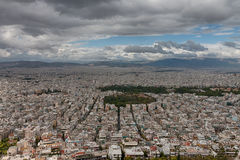 Aerial view of Athens from mount Lycabettus Royalty Free Stock Photography