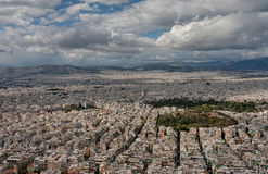 Aerial view of Athens from mount Lycabettus Stock Image