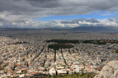 Aerial view of Athens from mount Lycabettus Stock Photography