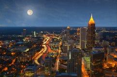 Aerial View of Atlanta stock image