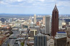 Aerial view of Atlanta city Royalty Free Stock Photos