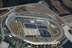 Aerial view Atlanta Motor Speedway. Aerial view of racetrack at Atlanta Motor Speedway royalty free stock photos
