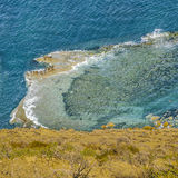 Aerial View Atlantic Ocean Chubut Argentina Royalty Free Stock Images