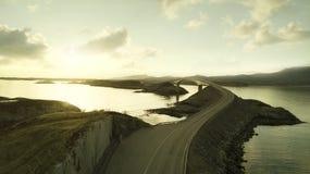 Aerial view of Atlantic Road, Norway royalty free stock image