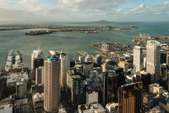 Aerial view of Auckland CBD Stock Photos