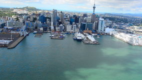 Aerial view of Auckland financial center, New Zealand stock video