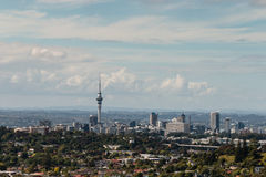 Aerial view of Auckland skyline Stock Image
