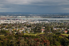 Aerial view of Auckland suburbs. New Zealand Royalty Free Stock Images