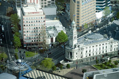 Aerial view of Auckland Town Hall New Zealand NZ Stock Photo